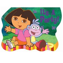 Dora the Explorer Its A Party Birthday Invitations 8 Invites Per Package... - $5.20
