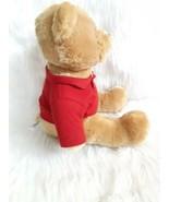 "AEROPOSTALE Stuffed Plush Teddy Bear Brown 15"" Red Aero Polo Shirt - $11.03"