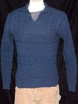 POLO RALPH LAUREN SWEATER 100% COTTON BLUE COLLARED SZ L NWT $245 - $109.77