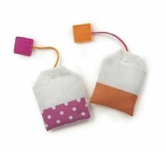 SmartyKat, Tea Teazers, Soft Plush Tea Bags, Cat Toys, Orange & Pink -set of 2  image 2