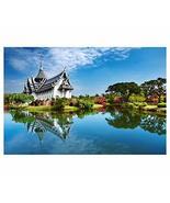 Panda Legends 1000 Pieces Wooden Jigsaw Puzzle Chiang Mai Temple Thailan... - $39.90