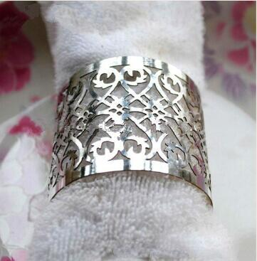 Primary image for 150pcs Laser Cut Napkin Ring Metallic Paper Napkin Rings for Wedding Decoration