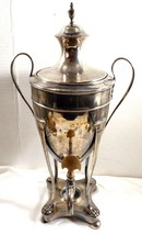 Vintage Antique Silver Plated Coffee Tea Water Dispenser Urn Footed Art ... - $109.40
