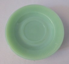 "5 Vintage Fire King? Jadeite ""Jane Ray"" top and bottom 5 3/4"" saucers - $18.00"