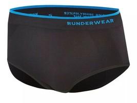 Runderwear Womens Ladies Running Briefs Black Sports Breathable Lightwei... - $22.49