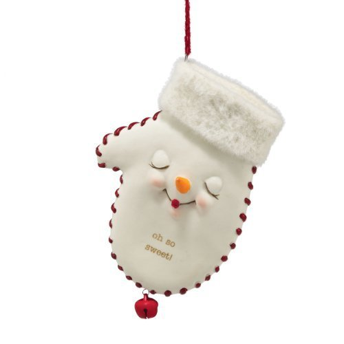 Primary image for Department 56 Snowpinions Oh So Sweet Mitten Hanging Ornament, 4.5 inch