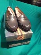 Sas Wink New Pewter 5M Women's Leather Tripad Comfort Loafer New Shoes Mrsp $169 - $99.00