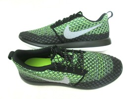 Nike Mens Roshe Two Flyknit 365 Running Shoes Volt Wolf Grey Green Size ... - $79.19