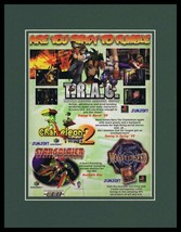 TRAC / Monsterseed / Star Soldier 1999 PS1 11x14 Framed ORIGINAL Adverti... - $22.55