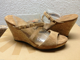 UGG JULLITA CHESTNUT SUEDE STRAPPY WEDGE SHOE US 8.5 / EU 39.5 / UK 7 - NIB - $44.88