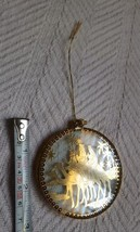 NATIVITY SCENE, METAL CUTOUT, round DECOR, VINTAGE, rare, hard to find O... - $23.38