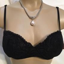 On Gossamer Black lace padded Bra 34C NEW - $17.95