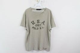 Polo Ralph Lauren Mens Large 1967 USA Spell Out Jersey Knit Short Sleeve Shirt - $18.76