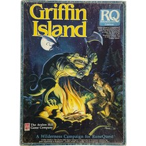 Avalon Hill + Chaosium - GRIFFIN ISLAND - Rune Quest Game - 1986 BOX ONLY - $24.99
