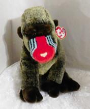 2001 TY Beanie BUDDY Plush CHEEKS Baboon Monkey Ape - 100% Tylon - $18.69