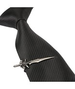 Men Classic Medieval Weapon Sword Tie Clip Silver Gift Box Wedding Bar ... - $24.98