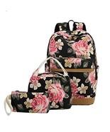 School Backpack Girls Teens Bookbags Set 15 inches Laptop (Big Floral - ... - $50.02
