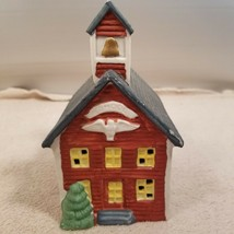 Americana Porcelain Collectables 1991 Red School House - $4.95