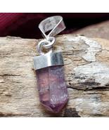 RARE Pink Tourmaline Silver petite pendant necklace OOAK - $50.00