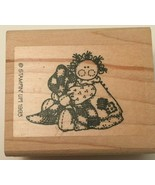 Stampin Up Friends are Like Quilts Rubber Stamp Raggedy Doll Crafts Card... - $4.00
