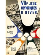VII Olympic Winter Games - Cortina, Italy - 1956 - Advertising Magnet - $11.99