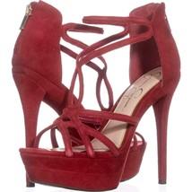 Jessica Simpson Rozmari Platform Evening Sandals 912, Red Muse, 8.5 US - $33.59