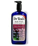 1 Bottle Dr Teal's 24 Oz Black Elderberry Vit D Body Wash With Pure Epso... - $18.99