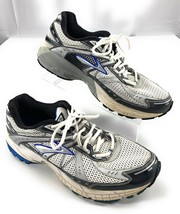 1caa13637fec1 Brooks Adrenaline 10 X Edition Go 2 Series Running Shoes White Silver Me.