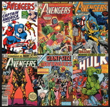 Vintage Art Marvel Post Card Lot Avengers #4 Captain America Hulk Thor Iron Man - $9.89