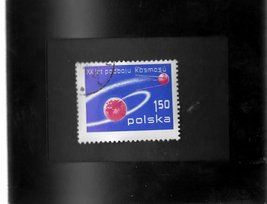 Tchotchke Framed Stamp Art  - Celebration of Space Exploration - $7.99