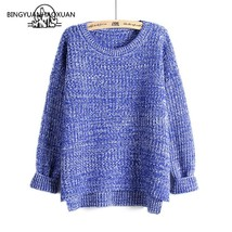 "BINGYUANHAOXUAN Women""s Large-Collar Suits Dovetail Sweater Female Loose... - $60.00"