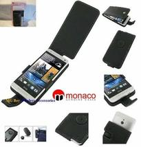 Monaco Black Flip Type Genuine Leather Cover Case W/Removable Belt Clip for At&t - $13.81