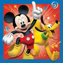 Mickey and The Roadster Racers Beverage Dessert Napkins 16 Ct Party Supplies New - $2.86
