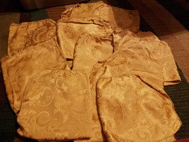 LOT OF 10 GOLD COLORED FABRIC NAPKINS - $18.50