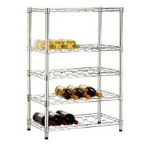 Durable Sturdy 24 Wine Bottle Steel Storage Rack Organizer Space Saver S... - £67.37 GBP