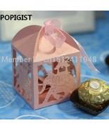 POPIGIST® Elephant Laser Cut Hollow Carriage Favors Box Gifts Candy Boxes - $18.88