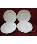 Fitz & Floyd Classic white fluted set of 4 dinner plates - $98.95