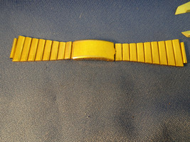 VINTAGE GOLD PLATED 19MM O.K. PAT STAINLESS STEEL WATCH BAND FOR RESTORA... - $125.00