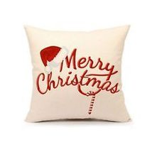 Red Merry Christmas Pillow Cover Decorative Throw Cushion Case Home Deco... - $28.00