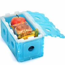 Set of 10 Ice Packs Cool Freezer Pack for Lunch Box Cooler Long Lasting ... - €16,18 EUR