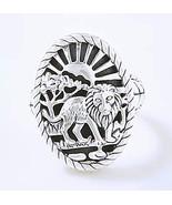 John Hardy JAI King of the Jungle Lion Sterling Silver 13g Ring   Size 7  NIB - $199.00