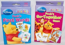 Set of 2 Disney I Can Learn with Pooh Baby Flash Cards:Pooh's First Word... - $6.18