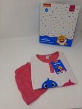 Pigiama Bambina Baby Shark Cotone Maglia Mezza Manica Pantaloni Corti  - $18.30