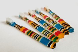 5 New FUN and Colorful Vintage Toothbrushes By Alan Stuart of New York - $12.82