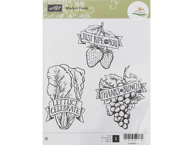 Stampin' Up! Market Fresh Rubber Cling Stamp Set #13934