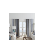(1) JCPENNEY JCP Sullivan Stripe Chambray Multi Blackout Grommet Curtain... - $38.60