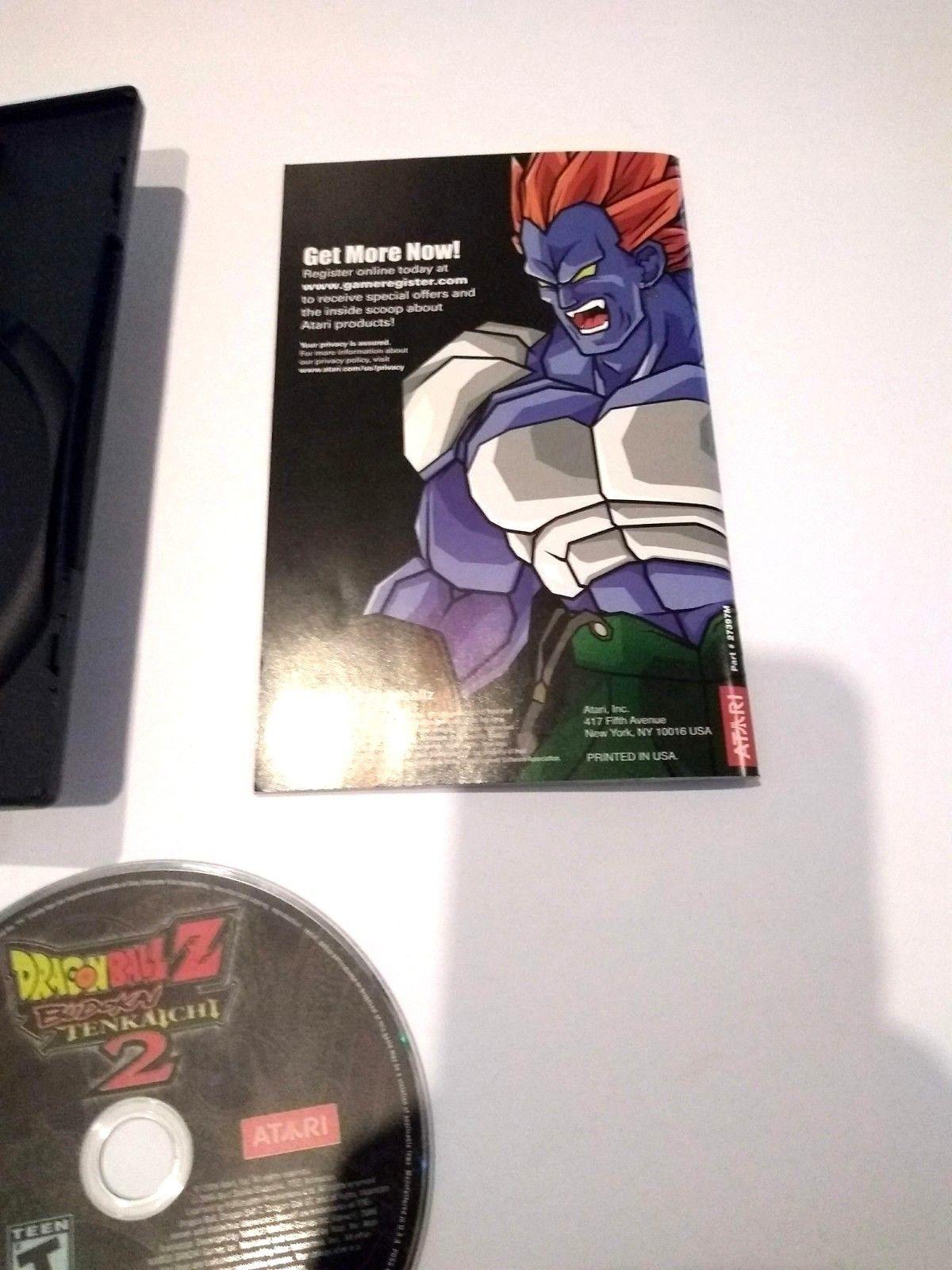 Dragon Ball Z: Budokai Tenkaichi 2 (Sony PlayStation 2, 2006) Rated Teen