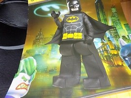 Boy's Size Small 4-6 Lego Batman Movie Deluxe Halloween Costume Superher... - €53,26 EUR