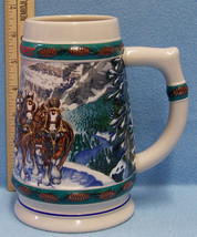 1993 Budweiser Beer Stein Mug Anheuser Busch Clydesdales Special Delivery - $13.16