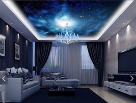 3D Blue Night Light Star WallPaper Murals Wall Print Decal Deco AJ WALLP... - $34.47+